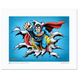 """Superman Fist Forward"" Numbered Limited Edition Giclee from DC Comics with Certificate of Authentic"
