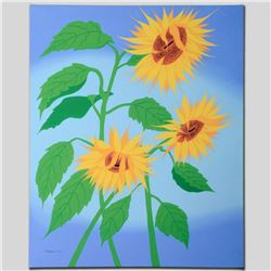 """Summer Sunflowers"" Limited Edition Giclee on Canvas by Larissa Holt, Protege of Acclaimed Artist Ey"