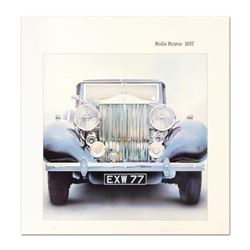 "Wolfgang Kuzel, ""Rolls Royce"" Limited Edition Lithograph from a PP Edition, Hand Signed with Letter"
