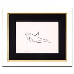 "Wyland, ""Orca"" Framed Original Sketch, Hand Signed with Certificate of Authenticity."