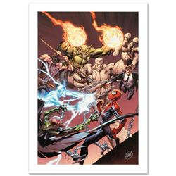 """Ultimate Spider-Man #158"" Limited Edition Giclee on Canvas by Mark Bagley and Marvel Comics. Number"