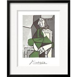 "Pablo Picasso ""Portrait de Femme Assise, Robe Verte"" Custom Framed Lithograph"