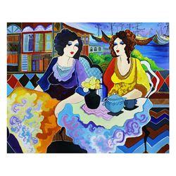 "Patricia Govezensky- Original Acrylic On Canvas ""By the Port"""