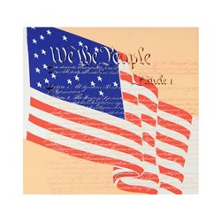"Steve Kaufman (1960-2010), ""We the People"" Limited Edition Silkscreen on Canvas, Numbered 45/50 and"