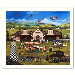 """Franklin Field's First Annual Air Fair"" Limited Edition Lithograph by Jane Wooster Scott, Numbered"