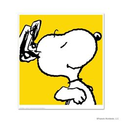 """Snoopy: Yellow"" Hand Numbered Limited Edition Chromatic Pigment Ink Fine Art Print created from the"