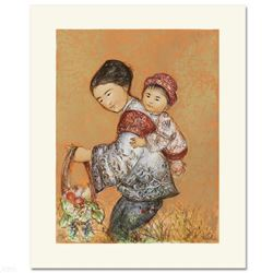 The Fruit Seller  Limited Edition Lithograph by Edna Hibel (1917-2014), Numbered and Hand Signed wi