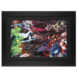 """New Thunderbolts #13"" Extremely Limited Edition Giclee (36"" x 29"") on Canvas by Tom Grummett and Ma"