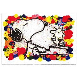 """Super Star"" Limited Edition Hand Pulled Original Lithograph (36"" x 27"") by Renowned Charles Schulz"