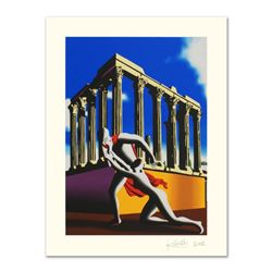 Mark Kostabi,  Eternal City  Limited Edition Serigraph, Numbered and Hand Signed with Certificate.