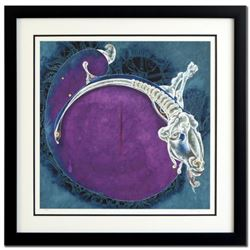 """Lu Hong, """"Aries (3/21 - 4/20)"""" Framed Limited Edition Giclee, Numbered and Hand Signed with COA."""