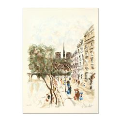 """Urbain Huchet, """"Isle de Cite"""" Limited Edition Lithograph, Numbered and Hand Signed."""