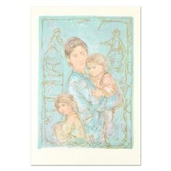 """Edna Hibel (1917-2014), """"Sonya and Family"""" Limited Edition Lithograph, Numbered and Hand Signed with"""