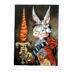 """Chuck Jones """"Bunny Prince Charlie"""" Hand Signed Limited Edition Fine Art Stone Lithograph."""