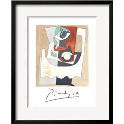 """Pablo Picasso """"Nature Morte au Gueridon et a l'Assiette"""" Custom Framed Lithograph"""