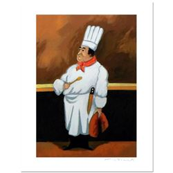 """Guy Buffet - """"Chef Albert"""" Limited Edition Serigraph; Numbered and Hand Signed with Certificate of A"""