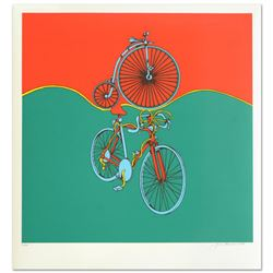 """""""Bicycle"""" Limited Edition Serigraph by Jack Brusca (1937-1993), Numbered and Hand Signed by the Arti"""