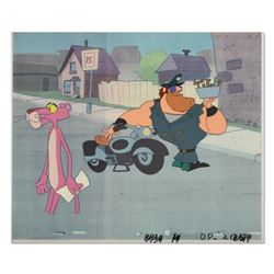 "Original Production Cel from the Animated Classic, ""The Pink Panther"", with Letter of Authenticity."