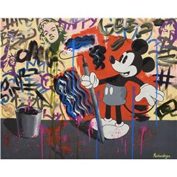 "Nastya Rovenskaya- Mixed Media ""Mickey's Renovation"""