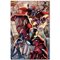 """Avengers #12.1"" Extremely Limited Edition Giclee on Canvas by Bryan Hitch and Marvel Comics, Number"