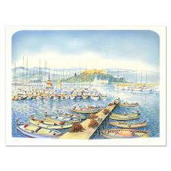 "Rolf Rafflewski, ""Docks"" Limited Edition Lithograph, Numbered and Hand Signed."