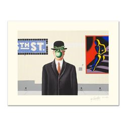 "Mark Kostabi, ""Going Places"" Limited Edition Serigraph, Numbered and Hand Signed with Certificate."