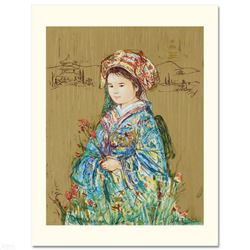 """Festival Kimono"" Limited Edition Serigraph by Edna Hibel (1917-2014), Numbered and Hand Signed with"