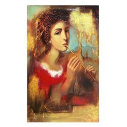"Taras Sidan- Original Oil on Canvas ""Musician"""