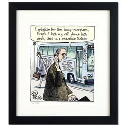 "Bizarro! ""Eclair Cell Phone"" is a Framed Limited Edition Hand Signed by creator Dan Piraro; Numbered"