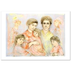 """Michael's Family"" Limited Edition Lithograph (36"" x 26"") by Edna Hibel (1917-2014), Numbered and Ha"