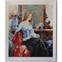 "Sergey Ignatenko- Set of 5 Serigraph on Paper ""Long Day, Thinking of you, Relaxation, Sleeping Beaut"