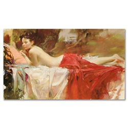 """Pino (1939-2010) - """"Love Notes"""" Artist Embellished Limited Edition on Canvas (40"""" x 24""""), AP Numbere"""
