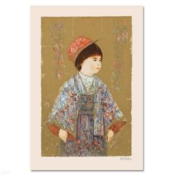 """""""Festival Day"""" Limited Edition Serigraph by Edna Hibel (1917-2014), Numbered and Hand Signed with Ce"""
