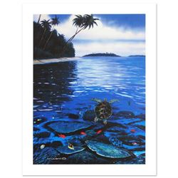 """""""Two Worlds of Paradise"""" Limited Edition Giclee on Canvas by Renowned Artist Wyland, Numbered and Ha"""