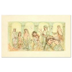 "Edna Hibel (1917-2014), ""Solomon's Court"" Limited Edition Lithograph on Rice Paper, Numbered and Han"
