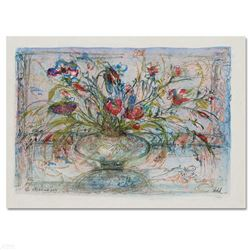 """Floral Mystic"" Limited Edition Lithograph by Edna Hibel, Numbered and Hand Signed with Certificate"