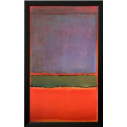 "Mark Rothko ""No. 6 (Violet, Green and Red), 1951"" Custom Framed Offset Lithograph"