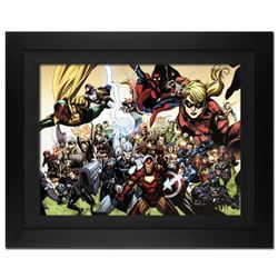 """Secret Invasion #6"" Extremely Limited Edition Giclee on Canvas (34"" x 25) by Leinil Francis Yu and"