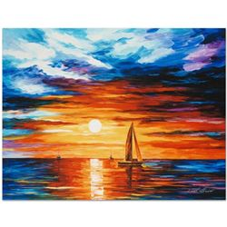 "Leonid Afremov ""Touch of Horizon"" Limited Edition Giclee on Canvas, Numbered and Signed; Certificate"