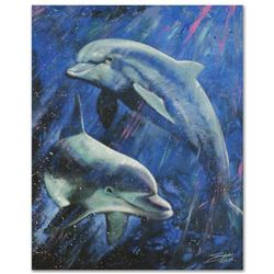 """Life Aquatic"" Limited Edition Giclee on Canvas by Stephen Fishwick, Numbered and Signed with Certif"