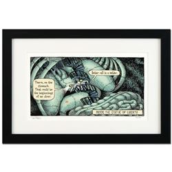 "Bizarro! ""Inside Liberty"" is a Framed Limited Edition Hand Signed by creator Dan Piraro; Numbered wi"