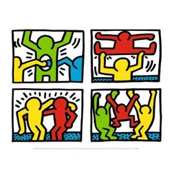 "Keith Haring ""Pop Shop Quad I, c.1987"" Offset Lithograph"