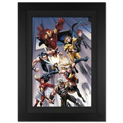 """The Mighty Avengers #7"" Extremely Limited Edition Giclee on Canvas by Mark Bagley and Marvel Comics"