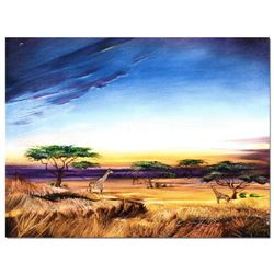 """Africa at Peace"" Limited Edition Giclee on Gallery Wrapped Canvas by Martin Katon, Numbered and Han"