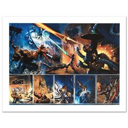 """Secret War #4"" Limited Edition Giclee on Canvas by Gabriele Dell'Otto and Marvel Comics. Numbered a"