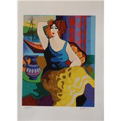 "Patricia Govezensky- Original Serigraph on Paper ""Gloria"""