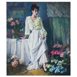 "Igor Semeko- Original Oil on Canvas ""Classy Lady"""