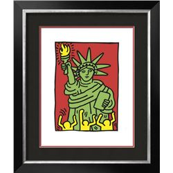 "Keith Haring ""Statue of Liberty, 1986"" Custom Framed Offset Lithograph"