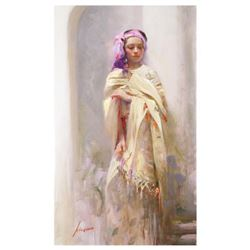 "Pino (1939-2010) - ""Silk Shawl"" Artist Embellished Limited Edition on Canvas (24"" x 40""), AP Numbere"