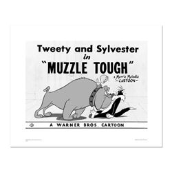 """Muzzle Tough"" Numbered Limited Edition Giclee from Warner Bros. with Certificate of Authenticity."